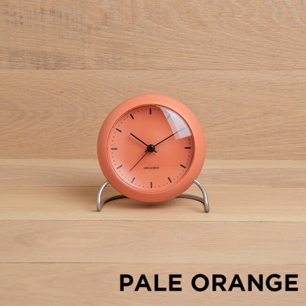 ARNE JACOBSEN アルネ ヤコブセン テーブル クロック シティホール 時計 置き時計 目覚まし時計 アナログ ブラック 黒 ブルー 青 オレンジ ベージュ|gryps|05