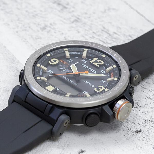 10年保証 送料無料 CASIO PROTREK カシオ プロトレック PRG-600-1 腕時計 メンズ アウトドア トレッキング 登山 アナデジ ソーラー 防水 ブラック 黒 シルバー|gryps|02