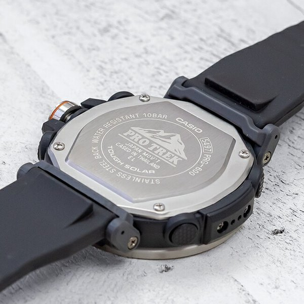 10年保証 送料無料 CASIO PROTREK カシオ プロトレック PRG-600-1 腕時計 メンズ アウトドア トレッキング 登山 アナデジ ソーラー 防水 ブラック 黒 シルバー|gryps|03