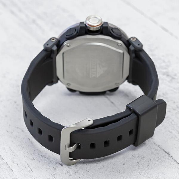 10年保証 送料無料 CASIO PROTREK カシオ プロトレック PRG-600-1 腕時計 メンズ アウトドア トレッキング 登山 アナデジ ソーラー 防水 ブラック 黒 シルバー|gryps|04