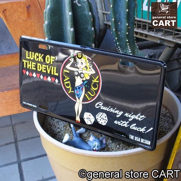 サインプレート 看板 エンボスサインボード 幸運の女神 LADY LUCK エド・ロス|gs-cart|02