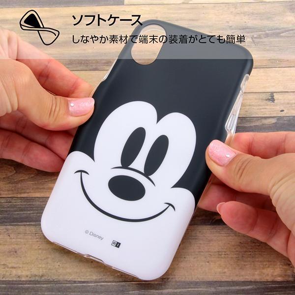 iPhone XS/iPhone X 共通 ディズニー/TPUソフトケース/クローズアップ/MN|gs-net|02