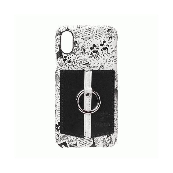 iPhone XS/iPhone X 共通 ハードケース/ポケット/リング付/ミッキー/ミニー|gs-net|03