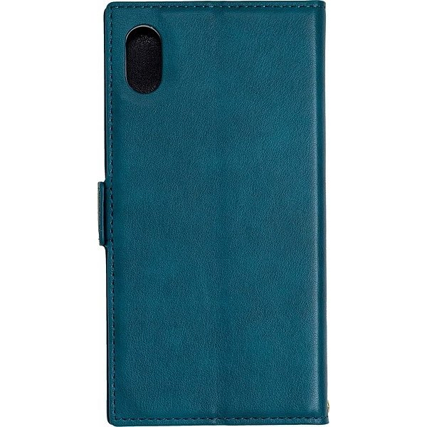 iPhone XR 手帳ケース/アクセントボーダー/Turquoise gs-net 02
