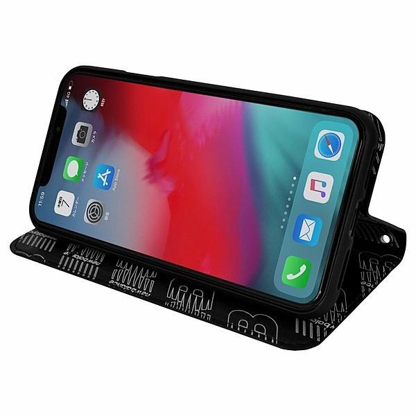 iPhone XS/iPhone X 共通 New/Balance/シンプル手帳ケース/ブラック gs-net 05