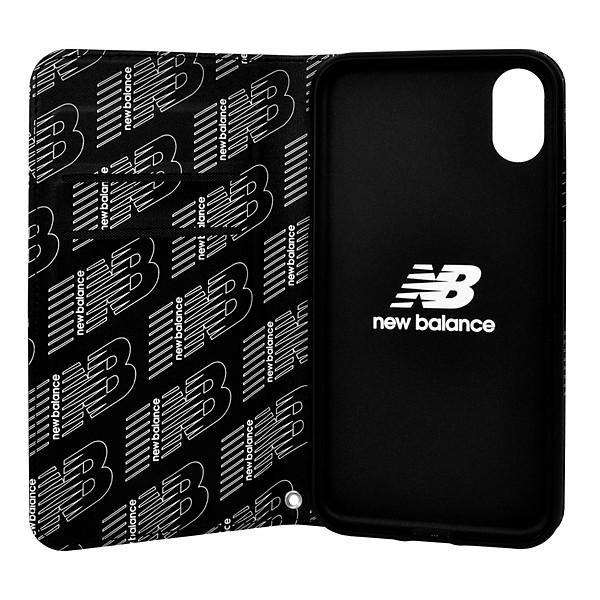 iPhone XR New/Balance/シンプル手帳ケース/ブラック|gs-net|04