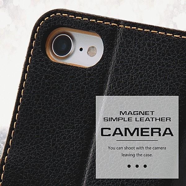 iPhone 8/iPhone 7 共通 手帳ケース 耐衝撃 2トーンカラー/ブラック/レッド|gs-net|07