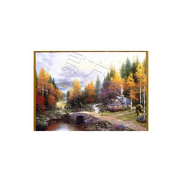 ししゅう糸 DMC糸 クロスステッチ刺繍キット 布地に図柄印刷 小屋風景 E