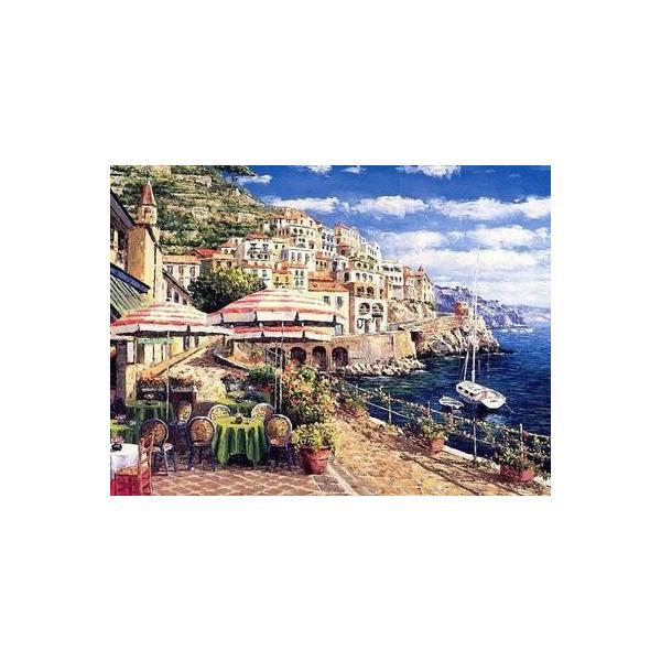 ししゅう糸 DMC糸 クロスステッチ刺繍キット 布地に図柄印刷 地中海風景HH