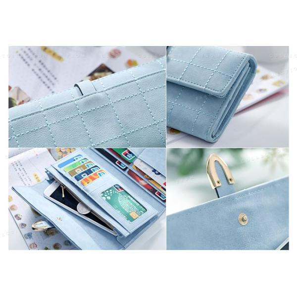 送料無料 財布 長財布  レディース ウォレット 大人可愛い カード収納 大容量 PUレザー|gsgs-shopping|17