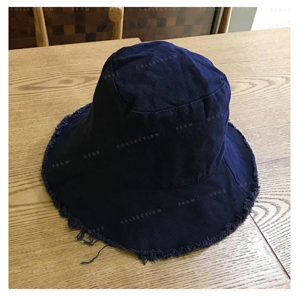 帽子 レディース オシャレなUVハット つば広 紫外線100%カット 折りたたみ帽子|gsgs-shopping|14