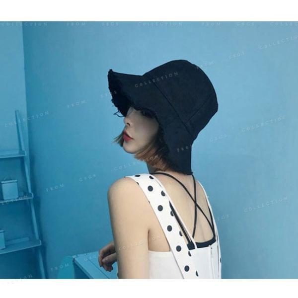 帽子 レディース オシャレなUVハット つば広 紫外線100%カット 折りたたみ帽子|gsgs-shopping|05