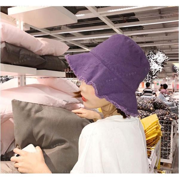 帽子 レディース オシャレなUVハット つば広 紫外線100%カット 折りたたみ帽子|gsgs-shopping|06