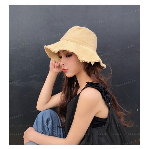 帽子 レディース オシャレなUVハット つば広 紫外線100%カット 折りたたみ帽子|gsgs-shopping|08