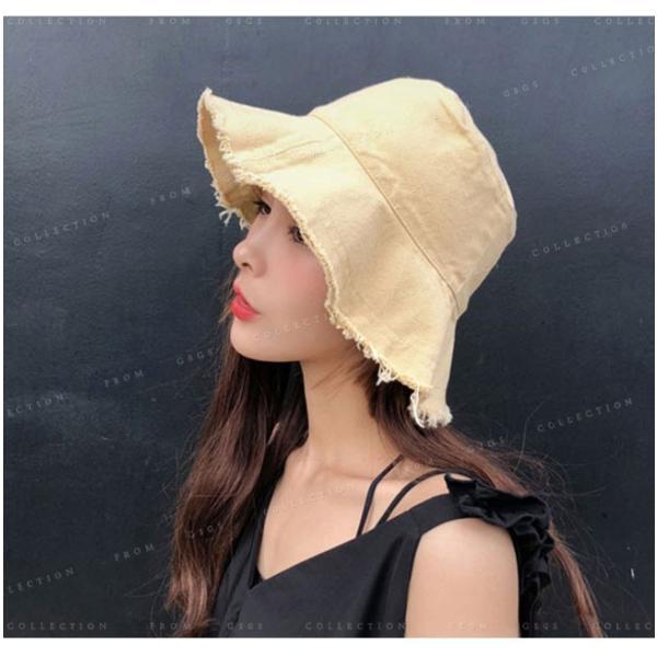 帽子 レディース オシャレなUVハット つば広 紫外線100%カット 折りたたみ帽子|gsgs-shopping|09