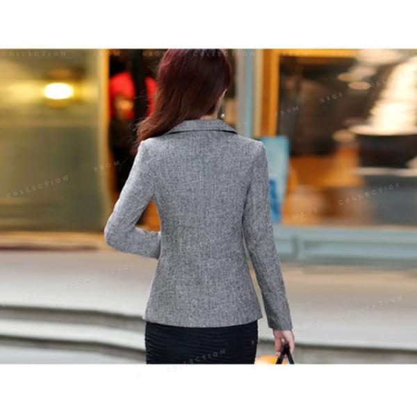 スーツ 単品 レディース テーラード ジャケット リクルートスーツ ビジネス フォーマル 通勤 トップス 長袖 セレモニースーツ 大きいサイズ 細身|gsgs-shopping|07