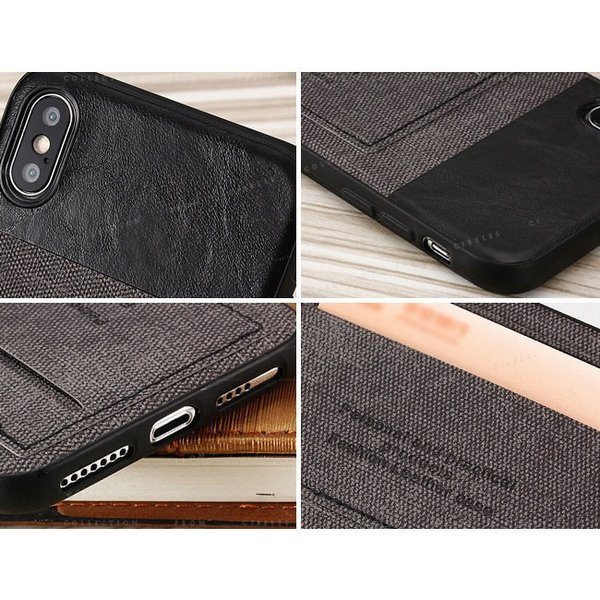 スマホケース カード収納 iPhoneX/XS XR XsMAX アイフォン 携帯ケース スマホカバー ハードケース 耐衝撃 無地 シンプル|gsgs-shopping|11