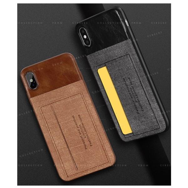 スマホケース カード収納 iPhoneX/XS XR XsMAX アイフォン 携帯ケース スマホカバー ハードケース 耐衝撃 無地 シンプル|gsgs-shopping|03