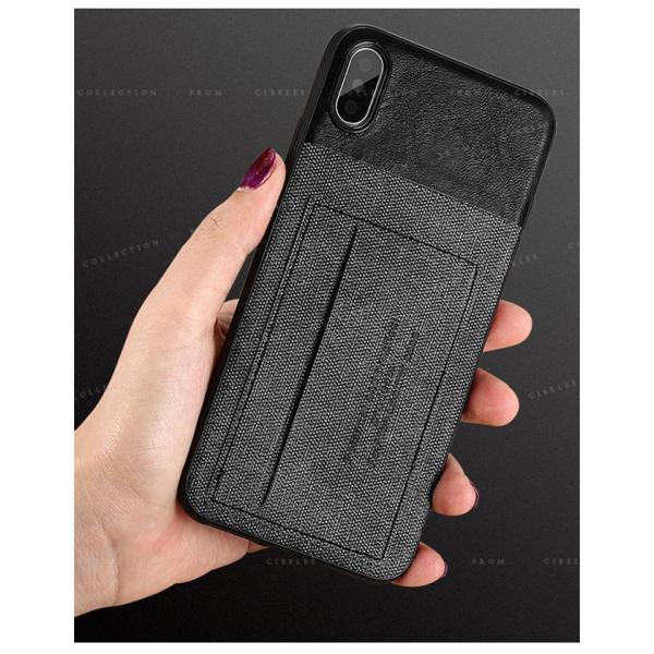 スマホケース カード収納 iPhoneX/XS XR XsMAX アイフォン 携帯ケース スマホカバー ハードケース 耐衝撃 無地 シンプル|gsgs-shopping|04