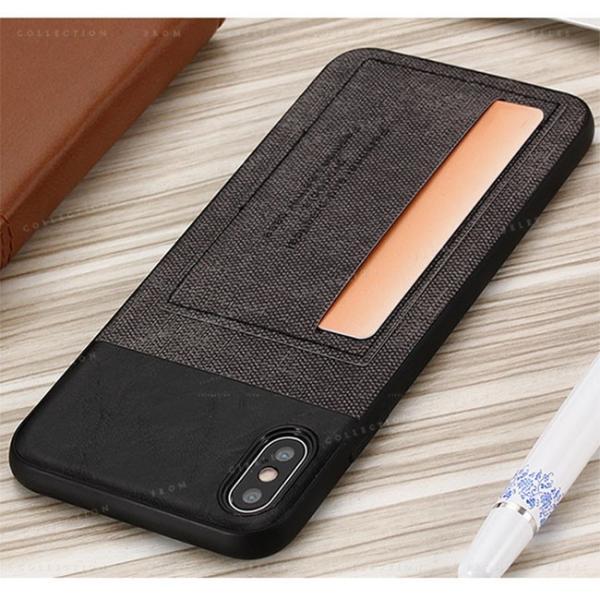 スマホケース カード収納 iPhoneX/XS XR XsMAX アイフォン 携帯ケース スマホカバー ハードケース 耐衝撃 無地 シンプル|gsgs-shopping|07