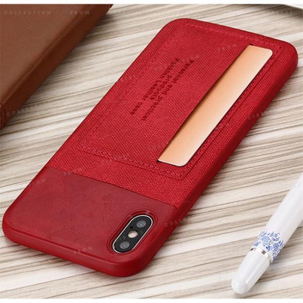スマホケース カード収納 iPhoneX/XS XR XsMAX アイフォン 携帯ケース スマホカバー ハードケース 耐衝撃 無地 シンプル|gsgs-shopping|10
