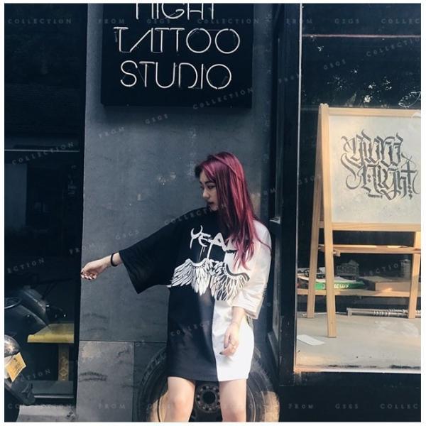 Tシャツ レディース ダンス衣装 HIPHOP ダンス 衣装 レディース トップス ヒップホップ ステージ 舞台服 gsgs-shopping 11