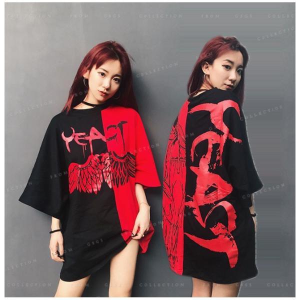Tシャツ レディース ダンス衣装 HIPHOP ダンス 衣装 レディース トップス ヒップホップ ステージ 舞台服 gsgs-shopping 04