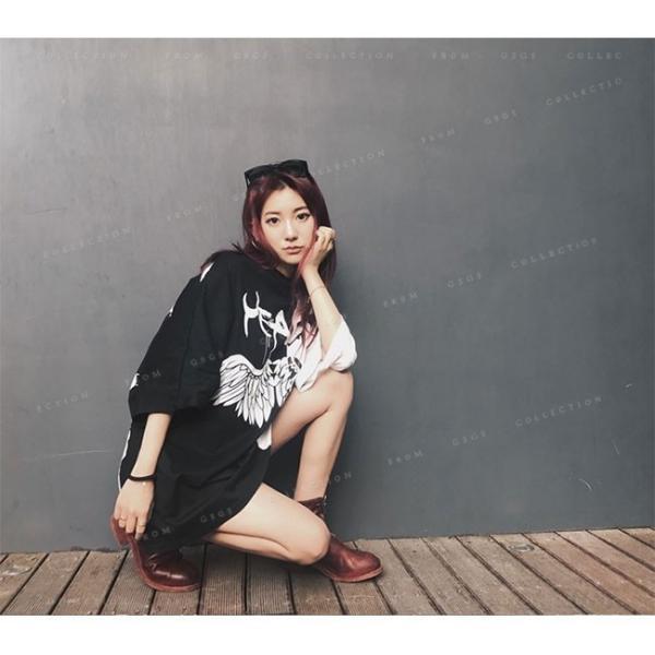Tシャツ レディース ダンス衣装 HIPHOP ダンス 衣装 レディース トップス ヒップホップ ステージ 舞台服 gsgs-shopping 09