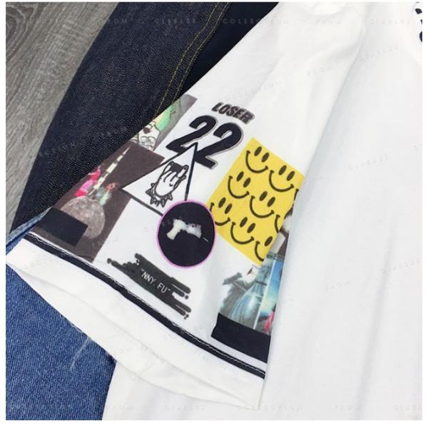 レディース  Tシャツ 半袖 ダンス衣装 HIPHOP ダンス 衣装 レディース トップス 半袖 ヒップホップ|gsgs-shopping|12