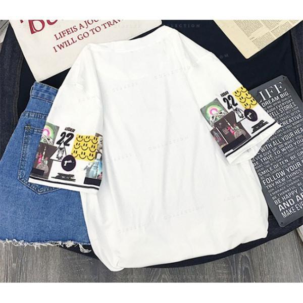 レディース  Tシャツ 半袖 ダンス衣装 HIPHOP ダンス 衣装 レディース トップス 半袖 ヒップホップ|gsgs-shopping|09