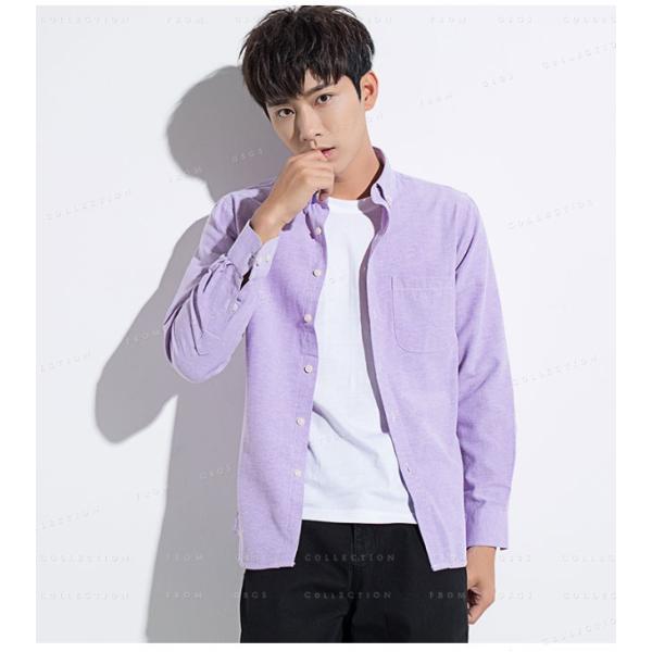 メンズ 長袖 カジュアルシャツ 春新作 長袖シャツ メンズ トップス 夏 春物 春服 大きいサイズ メンズシャツ|gsgs-shopping|14