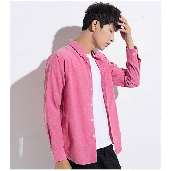 メンズ 長袖 カジュアルシャツ 春新作 長袖シャツ メンズ トップス 夏 春物 春服 大きいサイズ メンズシャツ|gsgs-shopping|15