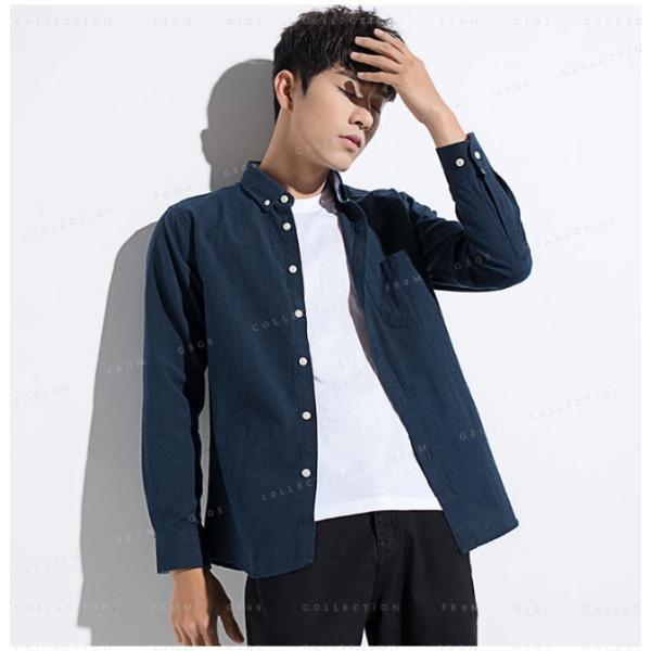 メンズ 長袖 カジュアルシャツ 春新作 長袖シャツ メンズ トップス 夏 春物 春服 大きいサイズ メンズシャツ|gsgs-shopping|09