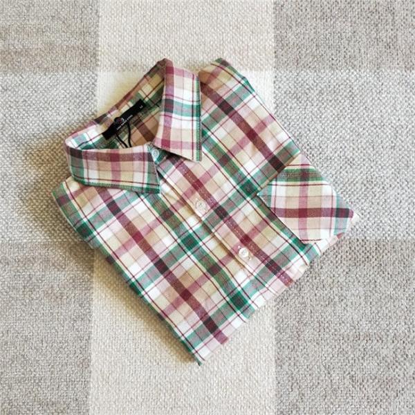 シャツ 長袖 レディース フォーマル 秋の新作 チェック柄 誰でも着やすいベーシックなナチュラルコート ゆったり 着痩せ|gsgs-shopping|12