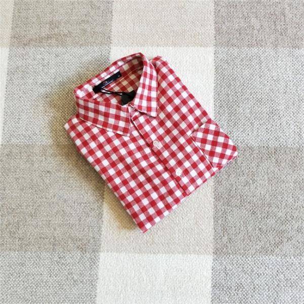 シャツ 長袖 レディース フォーマル 秋の新作 チェック柄 誰でも着やすいベーシックなナチュラルコート ゆったり 着痩せ|gsgs-shopping|15