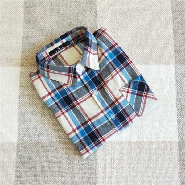 シャツ 長袖 レディース フォーマル 秋の新作 チェック柄 誰でも着やすいベーシックなナチュラルコート ゆったり 着痩せ|gsgs-shopping|16