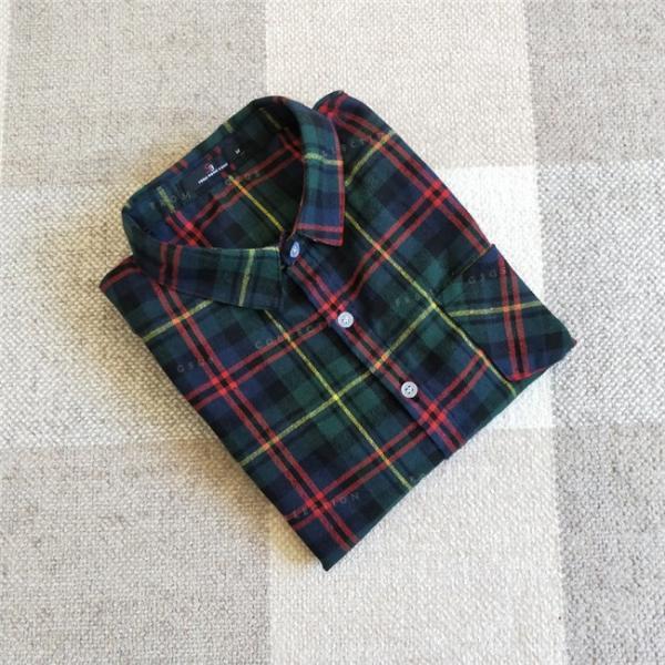 シャツ 長袖 レディース フォーマル 秋の新作 チェック柄 誰でも着やすいベーシックなナチュラルコート ゆったり 着痩せ|gsgs-shopping|17