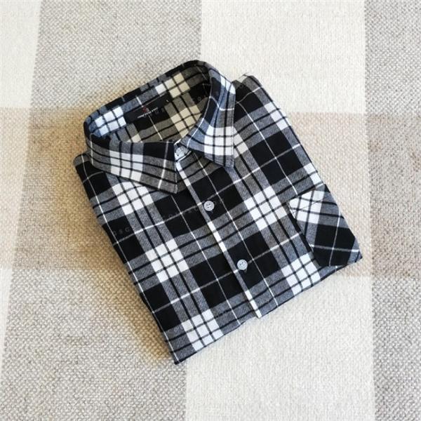 シャツ 長袖 レディース フォーマル 秋の新作 チェック柄 誰でも着やすいベーシックなナチュラルコート ゆったり 着痩せ|gsgs-shopping|20