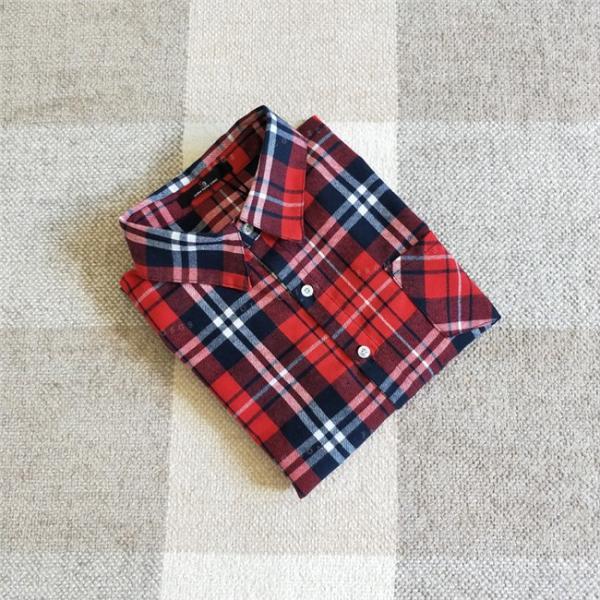 シャツ 長袖 レディース フォーマル 秋の新作 チェック柄 誰でも着やすいベーシックなナチュラルコート ゆったり 着痩せ|gsgs-shopping|09