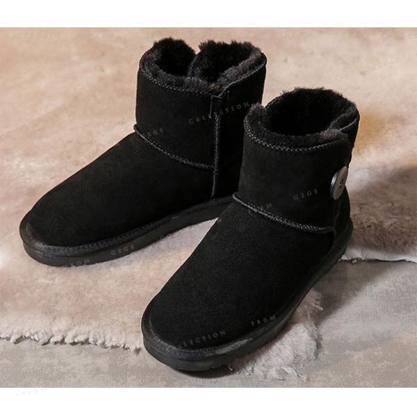 ムートンブーツ ショートブーツ レディース 厚底ムートンブーツ おしゃれ 可愛い シューズ 防寒 おしゃれ 大きいサイズ
