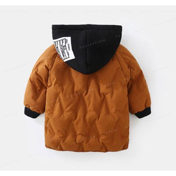 中綿コート 男の子 ジャケット フード付き 冬着 ロング丈 防寒 保温 キッズコート キッズ服 アウター 可愛い コート|gsgs-shopping|06