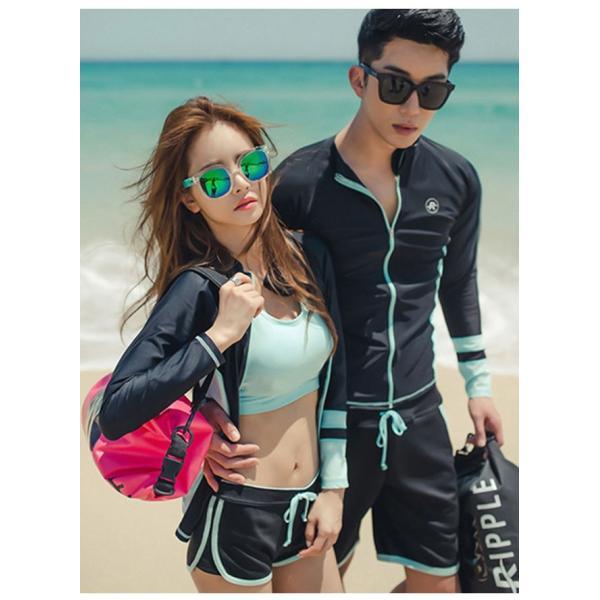 長袖水着 レディース 3点セット スポーツ水着 ファッション水着 体型カバー スイムウエア|gsgs-shopping|05