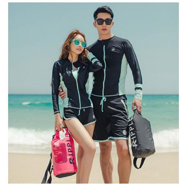 長袖水着 レディース 3点セット スポーツ水着 ファッション水着 体型カバー スイムウエア|gsgs-shopping|10