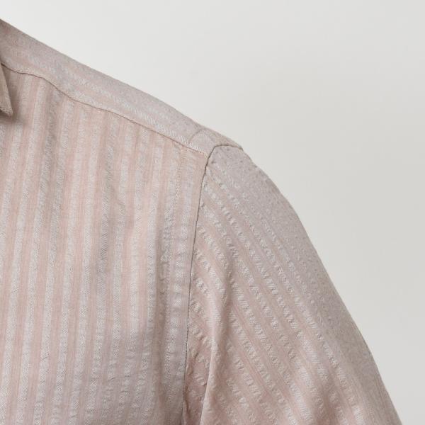 Giannetto(ジャンネット)コットンシアサッカーシャドーストライプセミワイドカラーシャツ VINCI FIT/AG29130V81 11091002109◇◇|guji|13