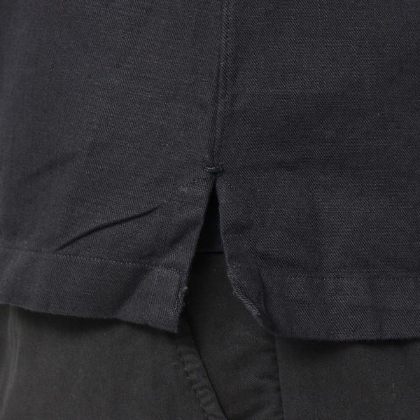 Finamore(フィナモレ)MILOSミロス ウォッシュドコットンリネンツイルソリッドオープンカラーシャツ P9056 11091009039|guji|15