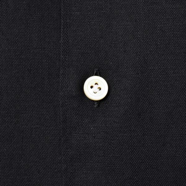 Finamore(フィナモレ)MILOSミロス ウォッシュドコットンリネンツイルソリッドオープンカラーシャツ P9056 11091009039|guji|16