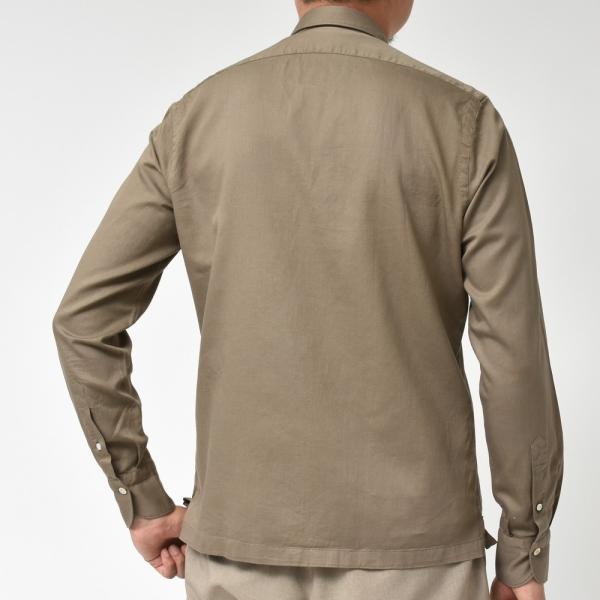 Finamore(フィナモレ)MILOSミロス ウォッシュドコットンリネンツイルソリッドオープンカラーシャツ P9056 11091009039|guji|04