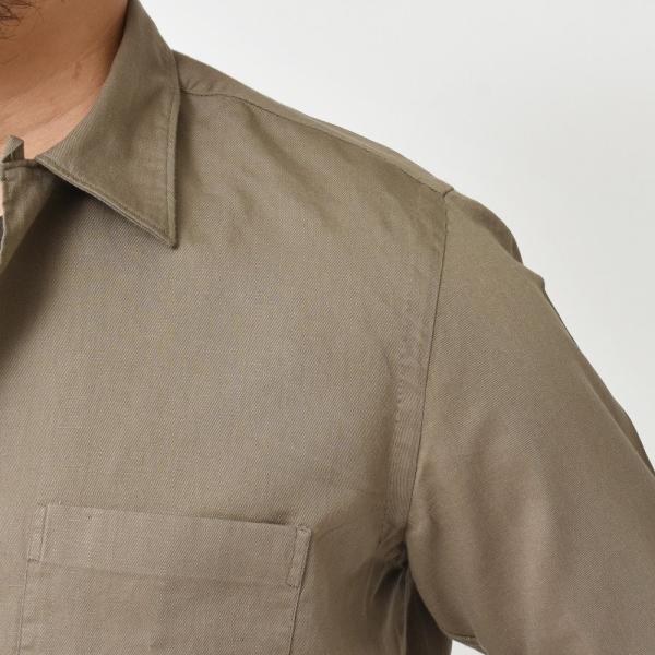 Finamore(フィナモレ)MILOSミロス ウォッシュドコットンリネンツイルソリッドオープンカラーシャツ P9056 11091009039|guji|06