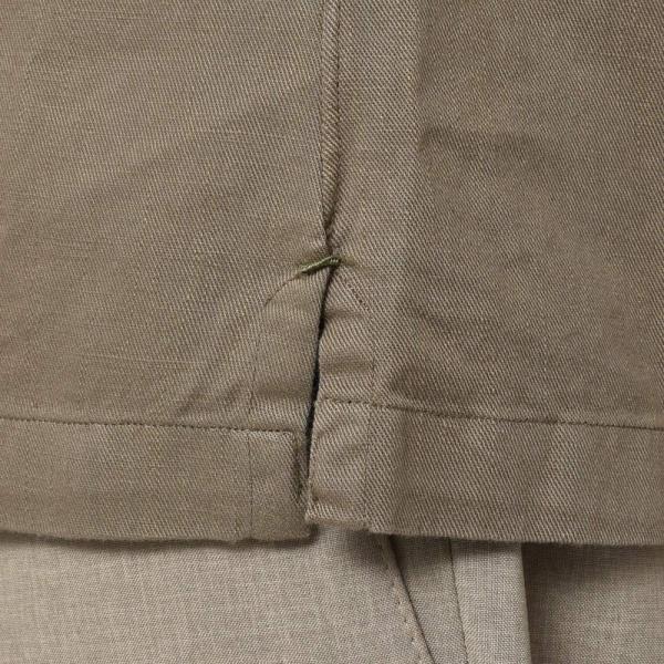 Finamore(フィナモレ)MILOSミロス ウォッシュドコットンリネンツイルソリッドオープンカラーシャツ P9056 11091009039|guji|08