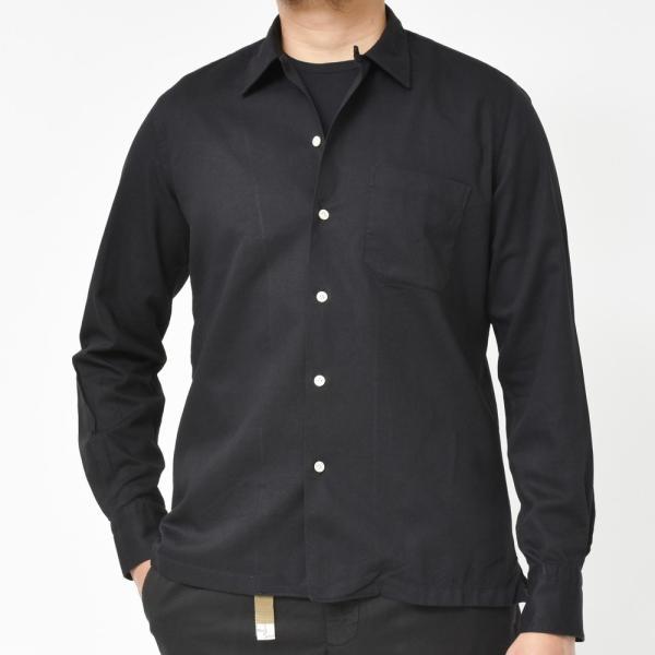 Finamore(フィナモレ)MILOSミロス ウォッシュドコットンリネンツイルソリッドオープンカラーシャツ P9056 11091009039|guji|10